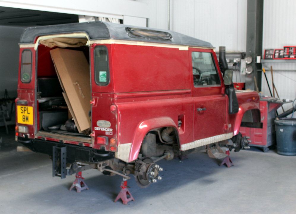 Defender being stripped