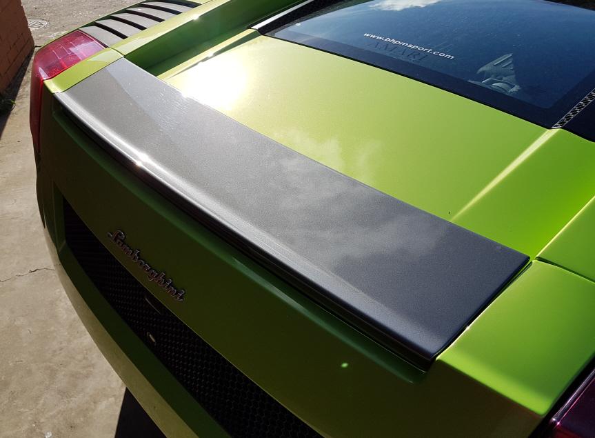 Lamborghini spoiler as standard