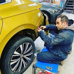 Pete repairing