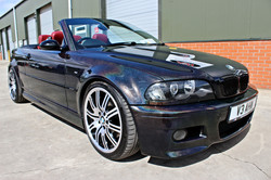 BMW re-sprayed in prismatic paint