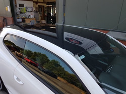 VW Scirocco roof painted