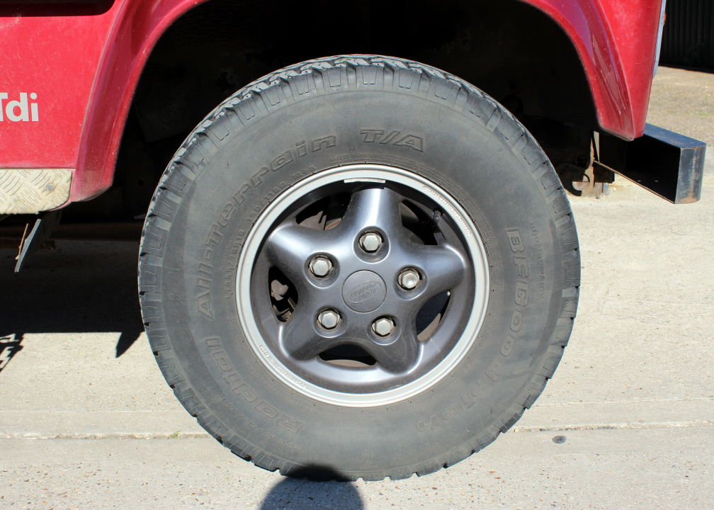 The old Defender wheels