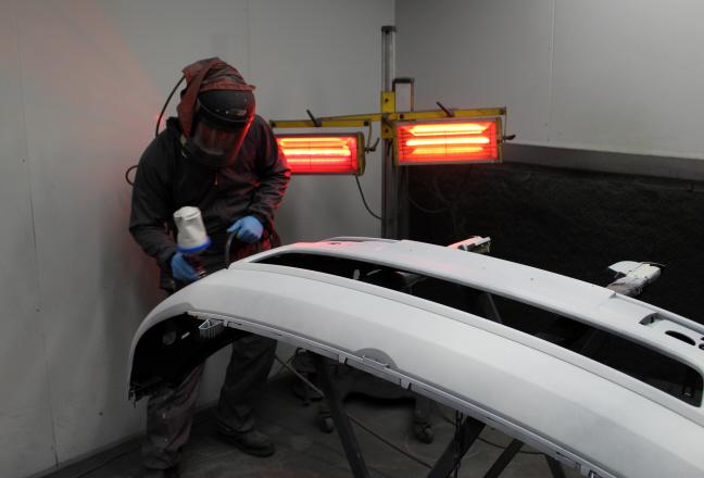T5 having the bumper sprayed