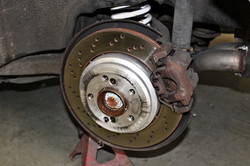 BMW brake calipers before painting