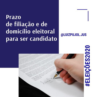 Eleições 2020: Prazo de filiação e de domicílio eleitoral para ser candidato