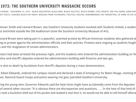 Black Then&Now: NOVEMBER 16, 1972: THE SOUTHERN UNIVERSITY MASSACRE OCCURS POSTED BY CARLETTA DENISE