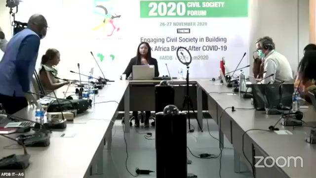 Forum de la société civile de la Banque Africaine de Développement 2020