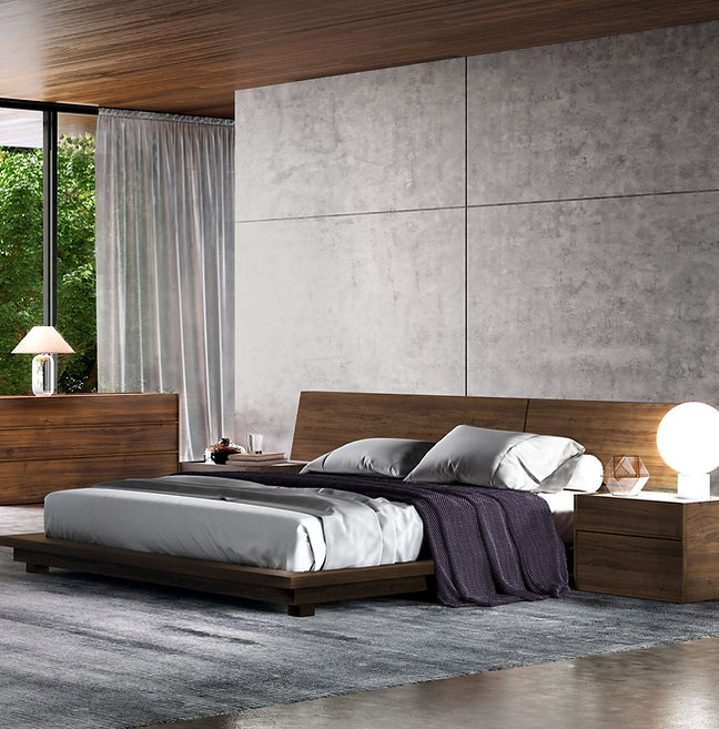 Bed Set: Night Wing with Night Tables