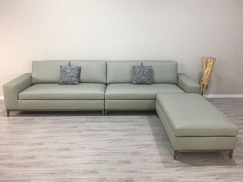 Cranbury 4 Seater Leather & Ottoman