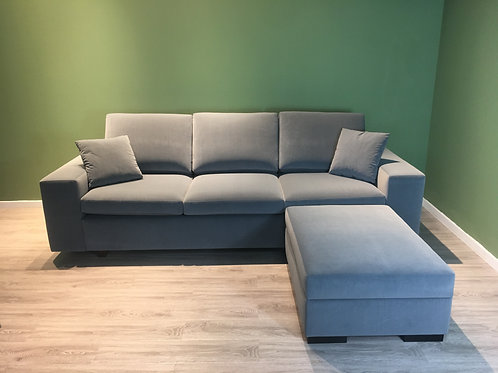 3-Seater Sofabed Greyhound & Ottoman