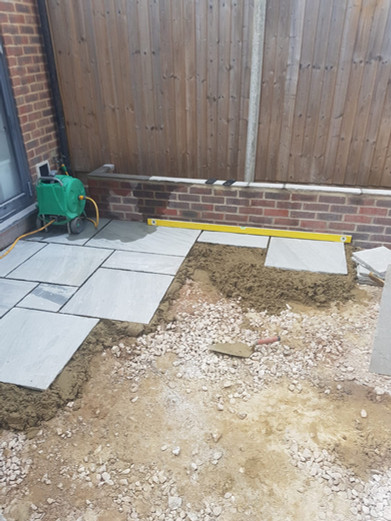 Abiz Landscapes Patio Services Fleet Hampshire Before and After
