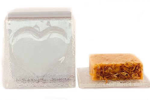 Heart Soap Tile & 140g Calendula & Lemongrass Soap
