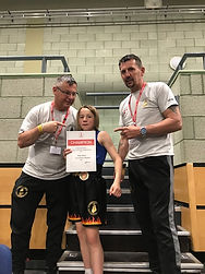 Ruby with me & Nick Ruby Else-White won the Female Minor Championships in 2019.