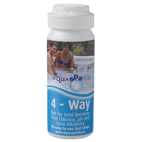 AquaSPArkle - 4-Way Chlorine/Bromine Test Strips