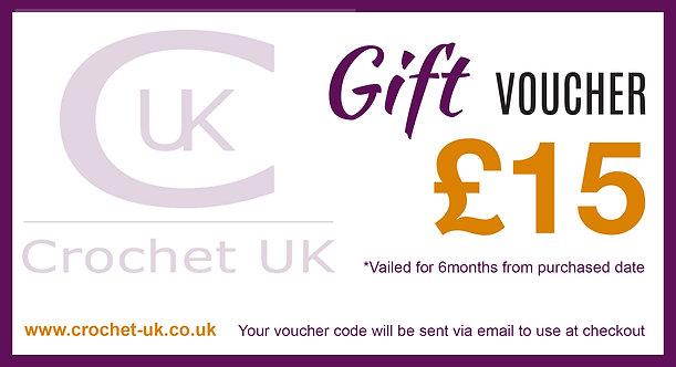£15 Crochet UK Gift Vouchers