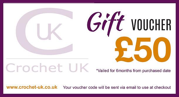 £50 Crochet UK Gift Vouchers