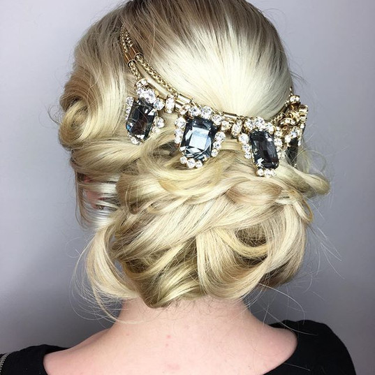 This Updo is definitely meant to be worn