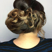 An Updo for this clients holiday event!