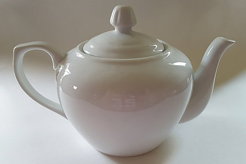 32 oz. White Ceramic Tea Pot w/lid