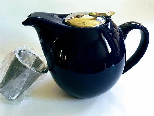 Porcelain Glazed Tea Pot w/Infuser