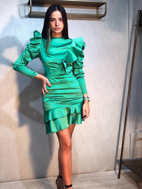 שמלת סאטן לני