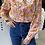 Thumbnail: חולצת פרחים צווארון תחרה