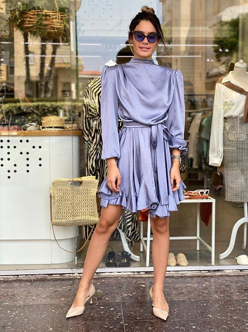 שמלת לונה אפור/כסף