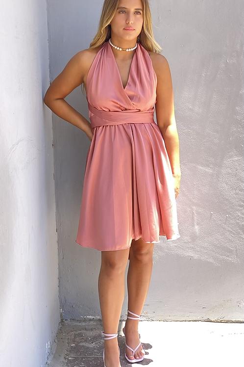 שמלת קשירה סאטן