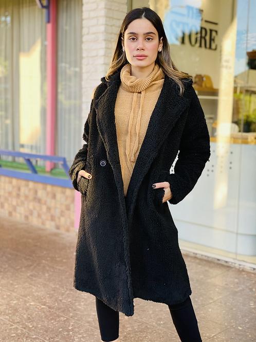 מעיל טדי בר ארוך (שחור)