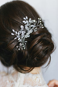 Tender wedding stylish hairstyle with ac