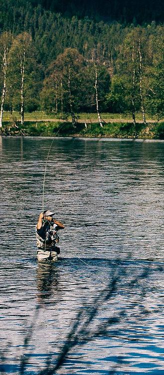 Pêche à la mouche en grande rivière
