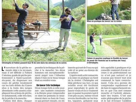Mon activité de guide de pêche dans le Dauphiné