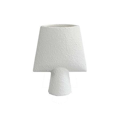 Vase céramique Sphere square white  - L21xH25cm
