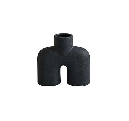 Vase céramique COBRA Uno noir -L18XH17CM