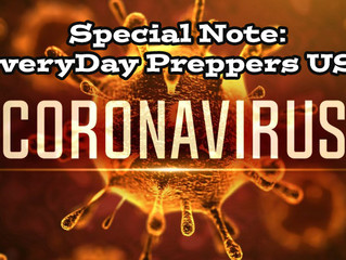 Special Note from EveryDay Preppers USA on Coronavirus