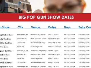 Mississippi Promoter Release 2019 Show Dates, Part 1 (Big Pop)