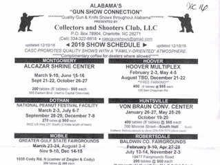 CASC - Collectors & Shooters Company Releases 2019 Show Schedule