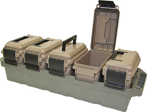 MTM 5 Can Ammo Can Set w/ Tray