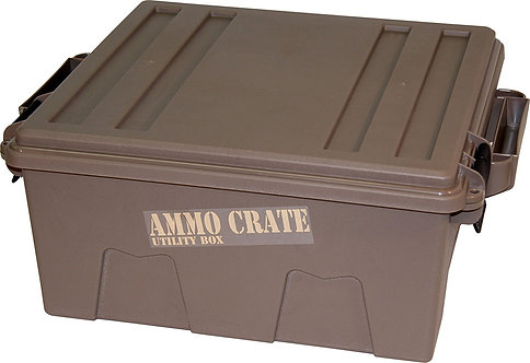 "MTM ACR8-72 Ammo Crate Utility Box with 7.25"" Deep, Large, Dark Earth"
