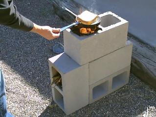 "The ""4 Block"" Rocket Stove! - DIY Rocket Stove - (Concrete/Cinder Block Rocket Stove)"