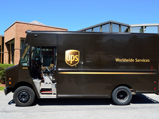 "World Global Shipper UPS shuts down operations in the South due to less than 2"" of snow."