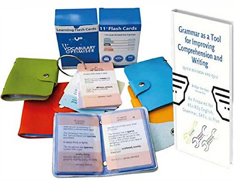 11+ Vocabulary Flash Cards –2000+ Synonyms, Antonyms, 250 Words defined  + Gram