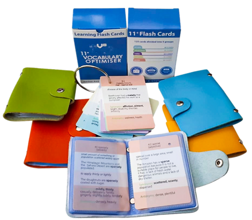 11+ Vocabulary Optimiser Flash Cards with FREE Wallet