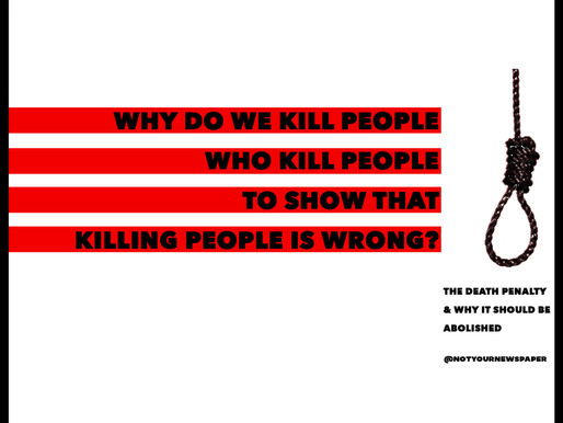 Why Do We Kill People Who Kill People To Show That Killing People Is Wrong?