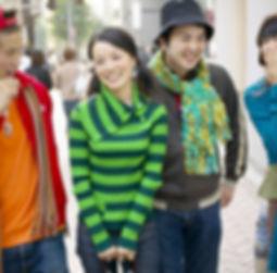Los adolescentes asiáticos