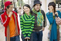 Les adolescents asiatiques