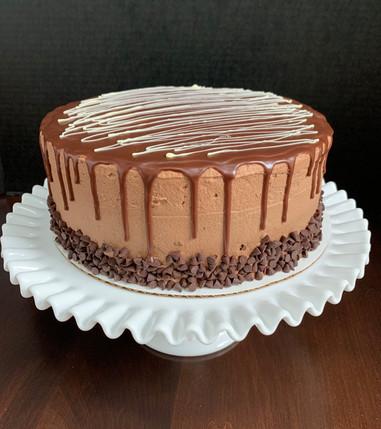 Chocolate mousse drip cake