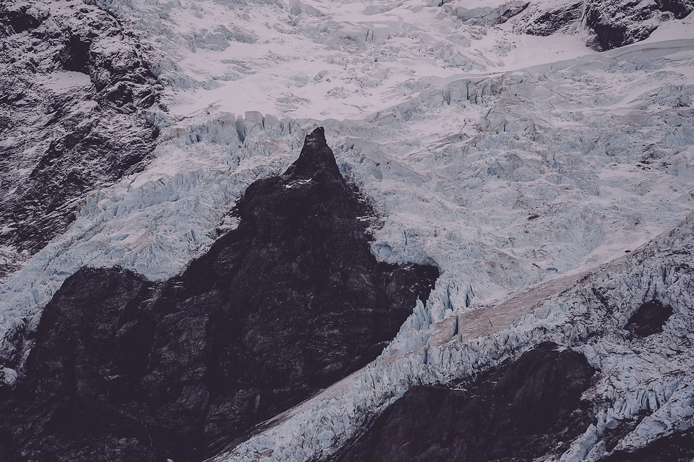 Close Up Of Snow On Mt Cook