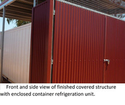 10 Freezer Unit protected from sun and damage