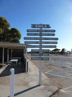 Eucla Sign Post